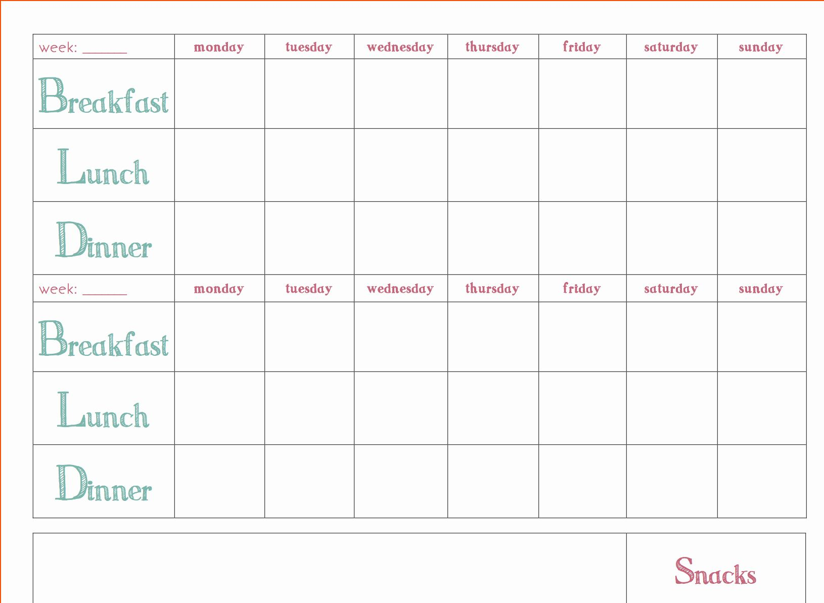 Weekly Meal Planner Template Word Fresh Free Download Weekly Meal Planner Template Weekly Meal Planner Template Menu Planning Template Meal Planner Template