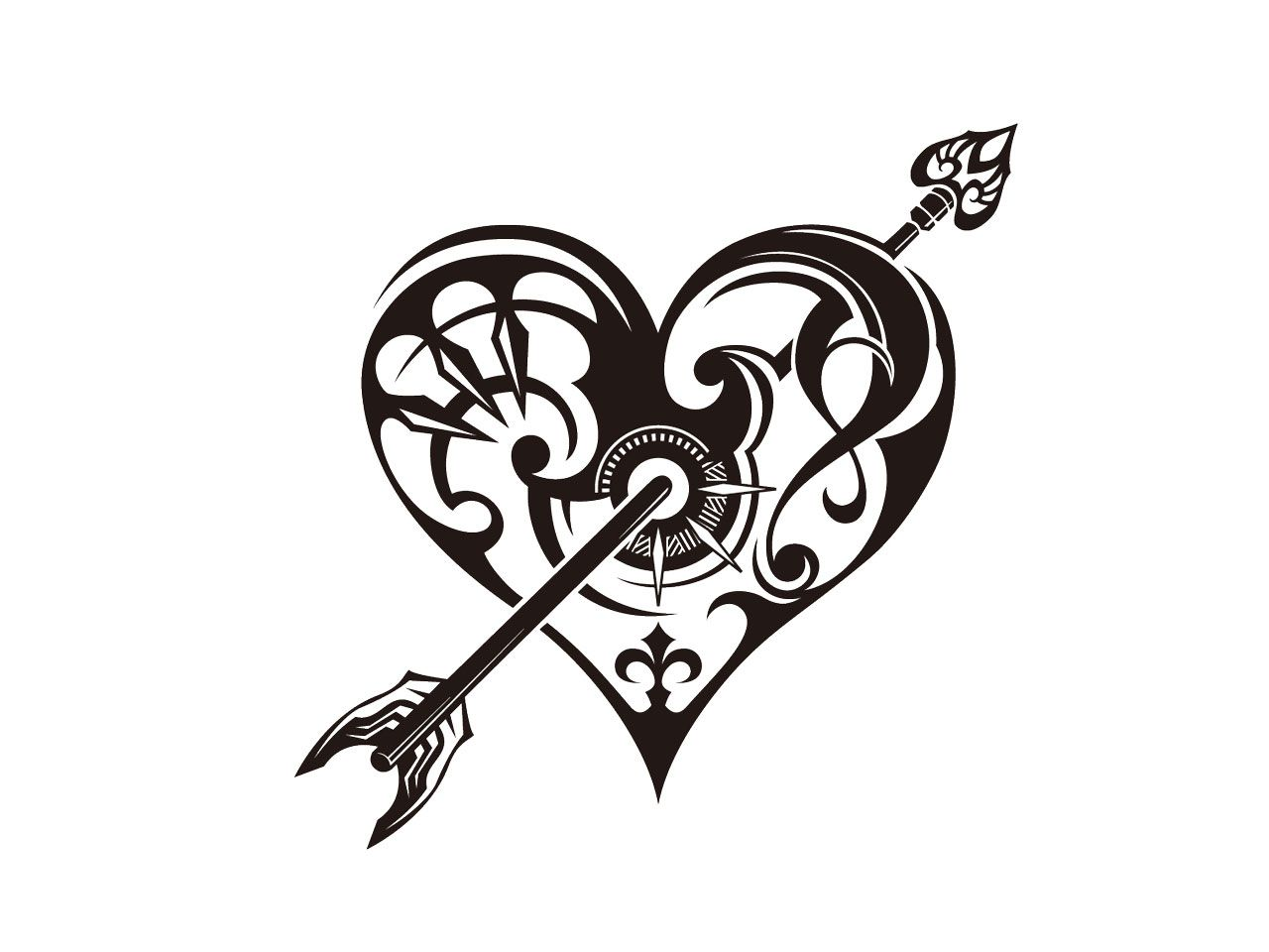 Line Art Of Heart : Index of wp content gallery category tribal tattoos pic for art