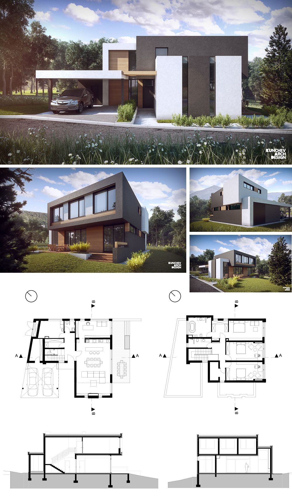 Modern House Design for one family. TBA - 300 m2 <br> http ...