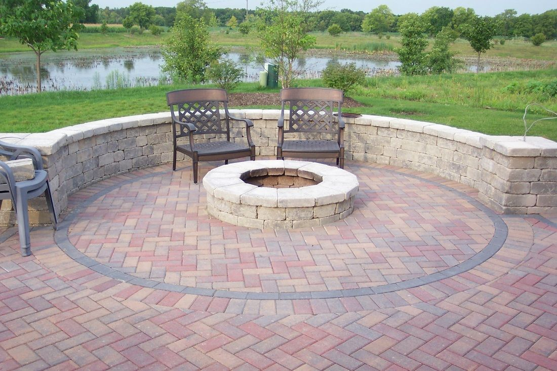 diy brick patio ideas top flagstone patio ideas onbudget with unique round fire pit for on - Brick Stone Patio Designs