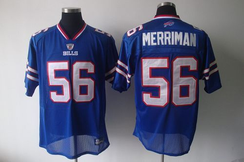 Wholesale Bills #56 Shawne Merriman Light Blue 2011 New Style Stitched NFL  supplier