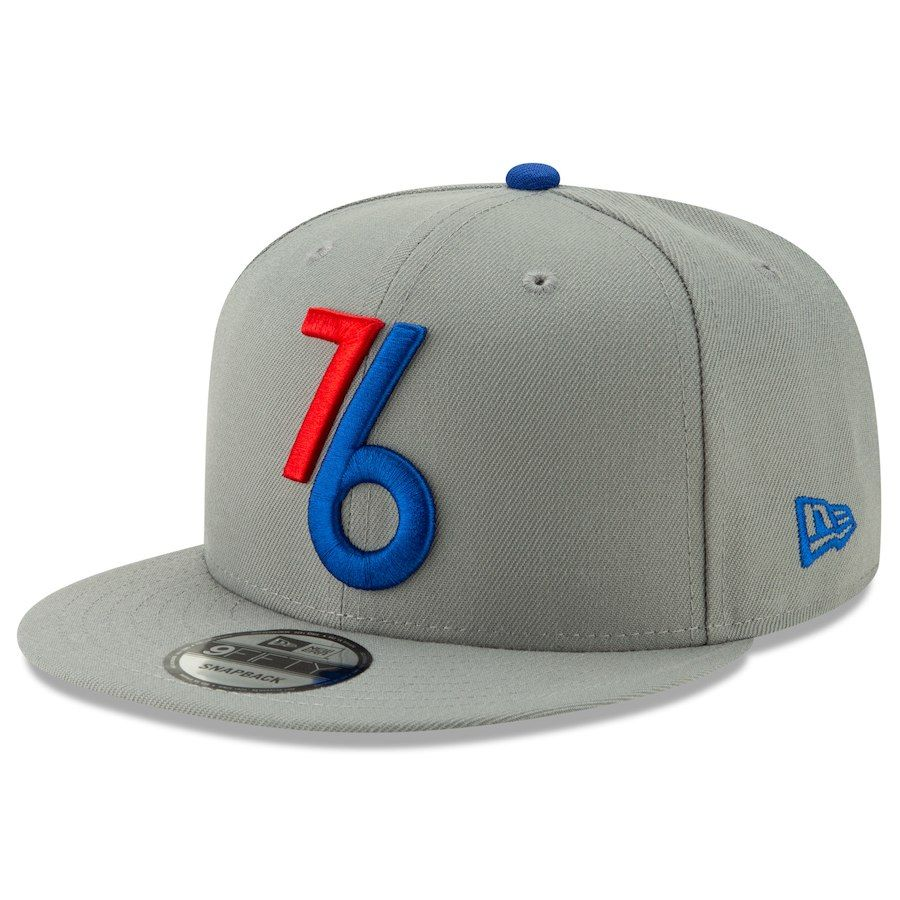 Philadelphia 76ers New Era 2018 City Edition Alternate 9FIFTY Snapback  Adjustable Hat – Gray 4e7a6411d1b2