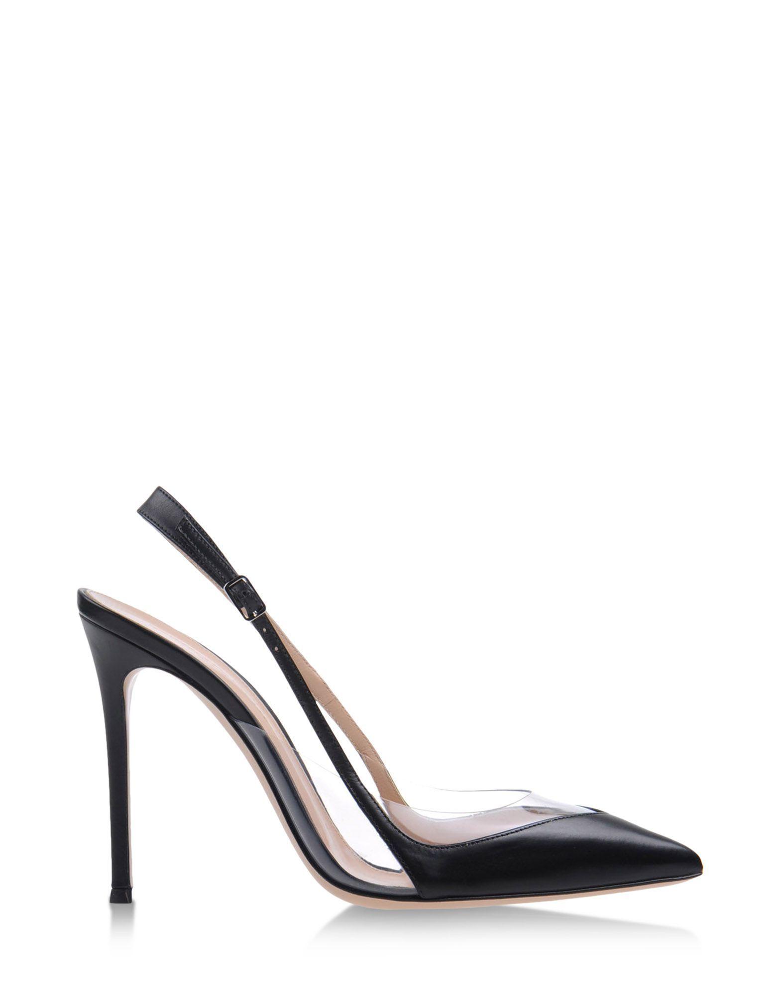 4ce2b7959db Gianvito Rossi Leather   PVC Slingbacks - Pointed Toe Heels