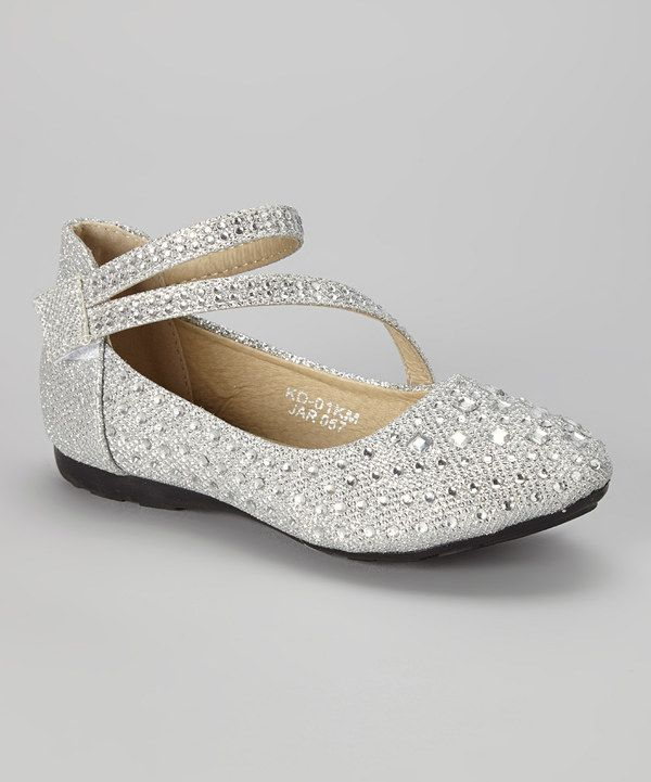 This Silver Beaded Ankle-Strap Flat by Lucita is perfect!  zulilyfinds 9a5a2b7a1b63