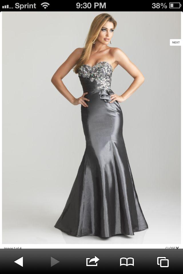 Dark silver bridesmaid dress Nightmoves By Allure | Wedding ideas ...