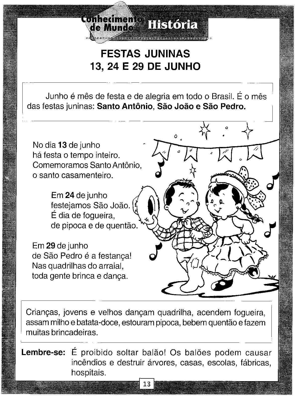 Atividades De Festa Junina Para Ensino Fundamental E Educacao