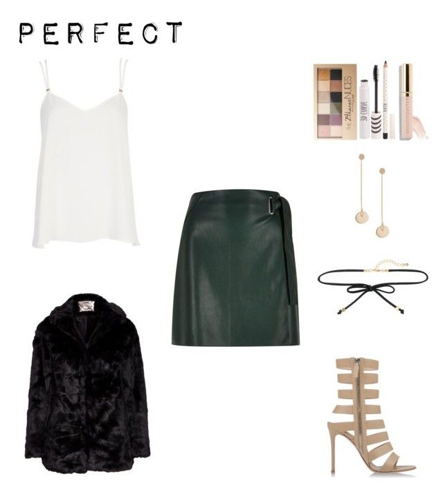 """""""Ready...696"""" by libny1234 on Polyvore featuring moda, River Island, Gianvito Rossi, Miss Selfridge, Topshop, Maybelline y Beautycounter"""