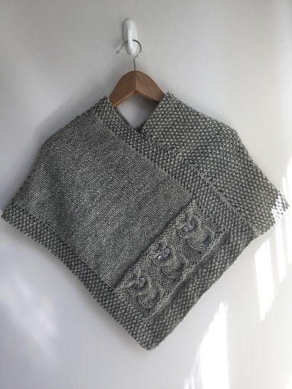 Owls Poncho - 4yrs to large adult   Poncho knitting ...