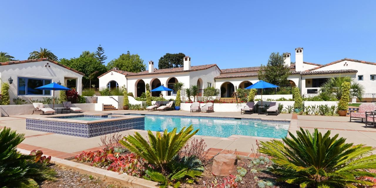 this gorgeous california hacienda spans an estimated 10 000 square