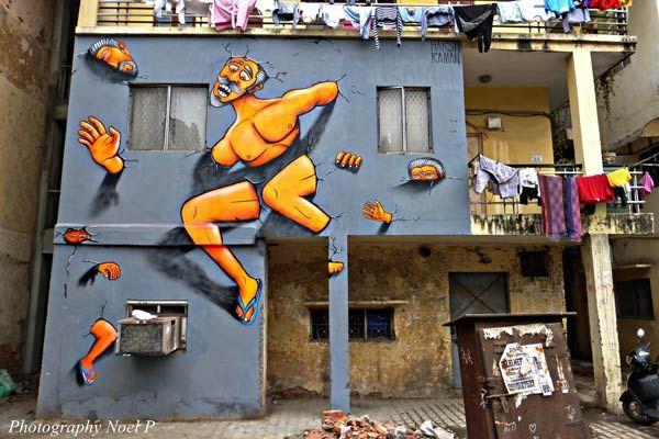 harsh raman in new delhi, india urban wall art, street art, urbanharsh raman in new delhi, india urban wall art, street art, urban art, wall murals, graffiti art