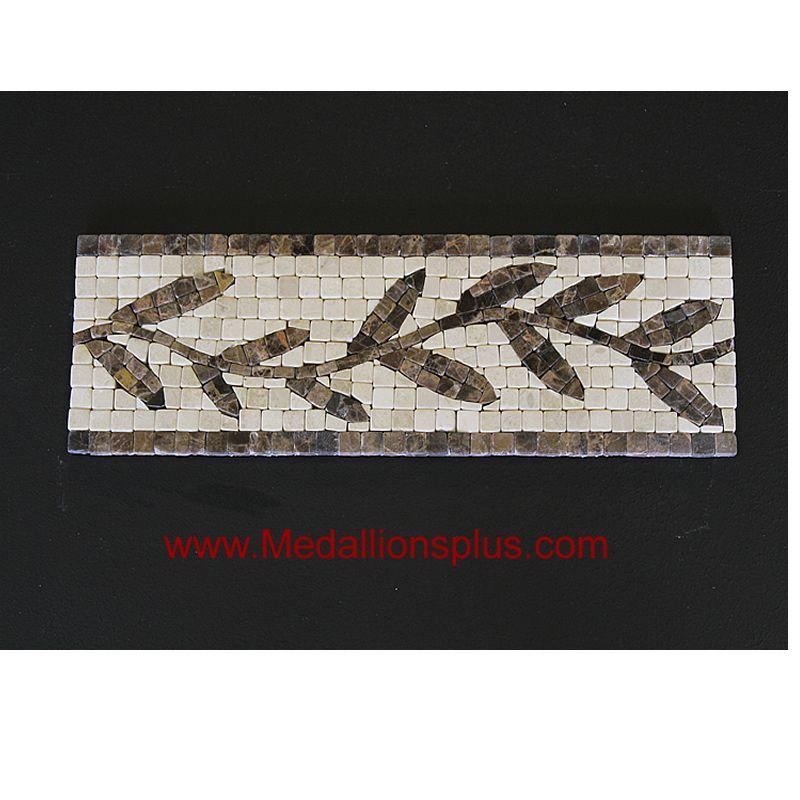 Ivy, Mosaic Tile Listello 4\