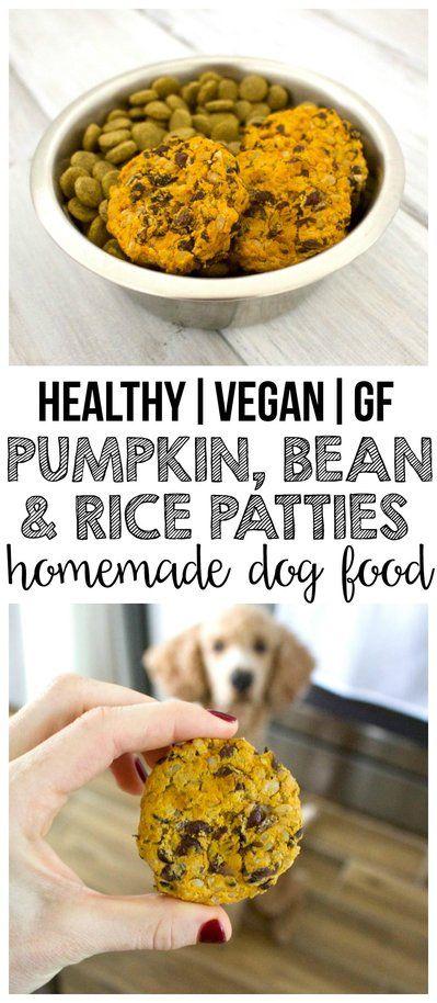 Pumpkin Black Bean Rice Patties For Dogs Dog Food Recipes