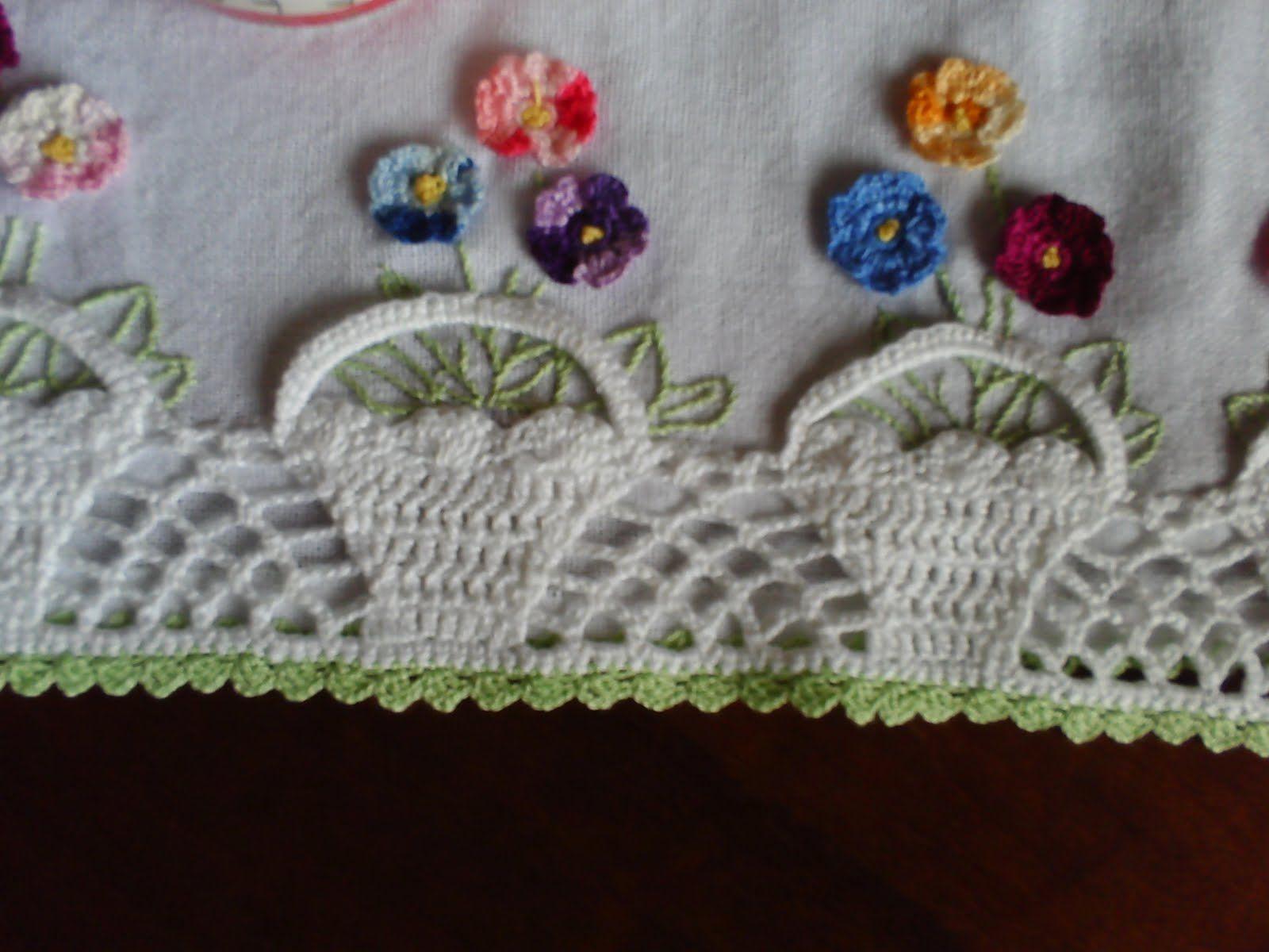 Barrados De Pano De Prato Tapetes De Croche Com Imagens