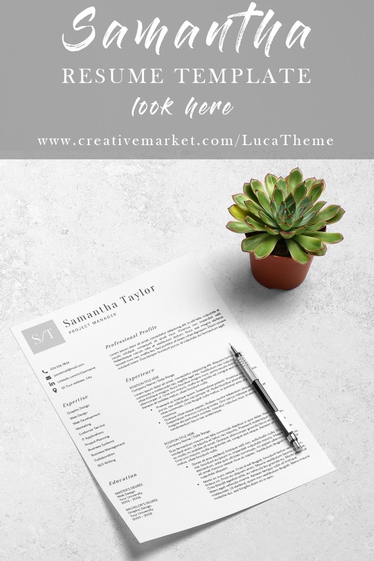 Resume Template Cv Template Resume Template Professional Resume Template Resume Cover Letter Template