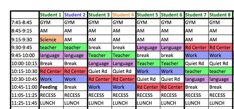 make a school schedule