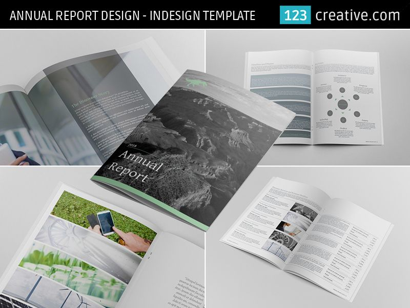 ▻ ANNUAL REPORT DESIGN - INDESIGN TEMPLATE - 24 pages layout ...