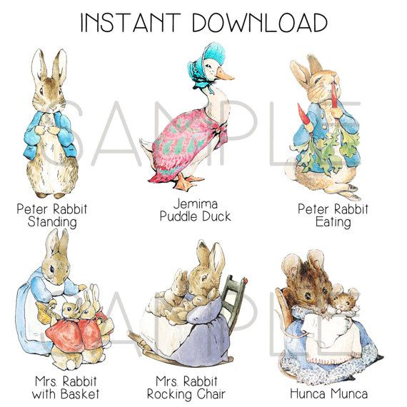 Instant Download Peter Rabbit Cut Out Stands 12 By