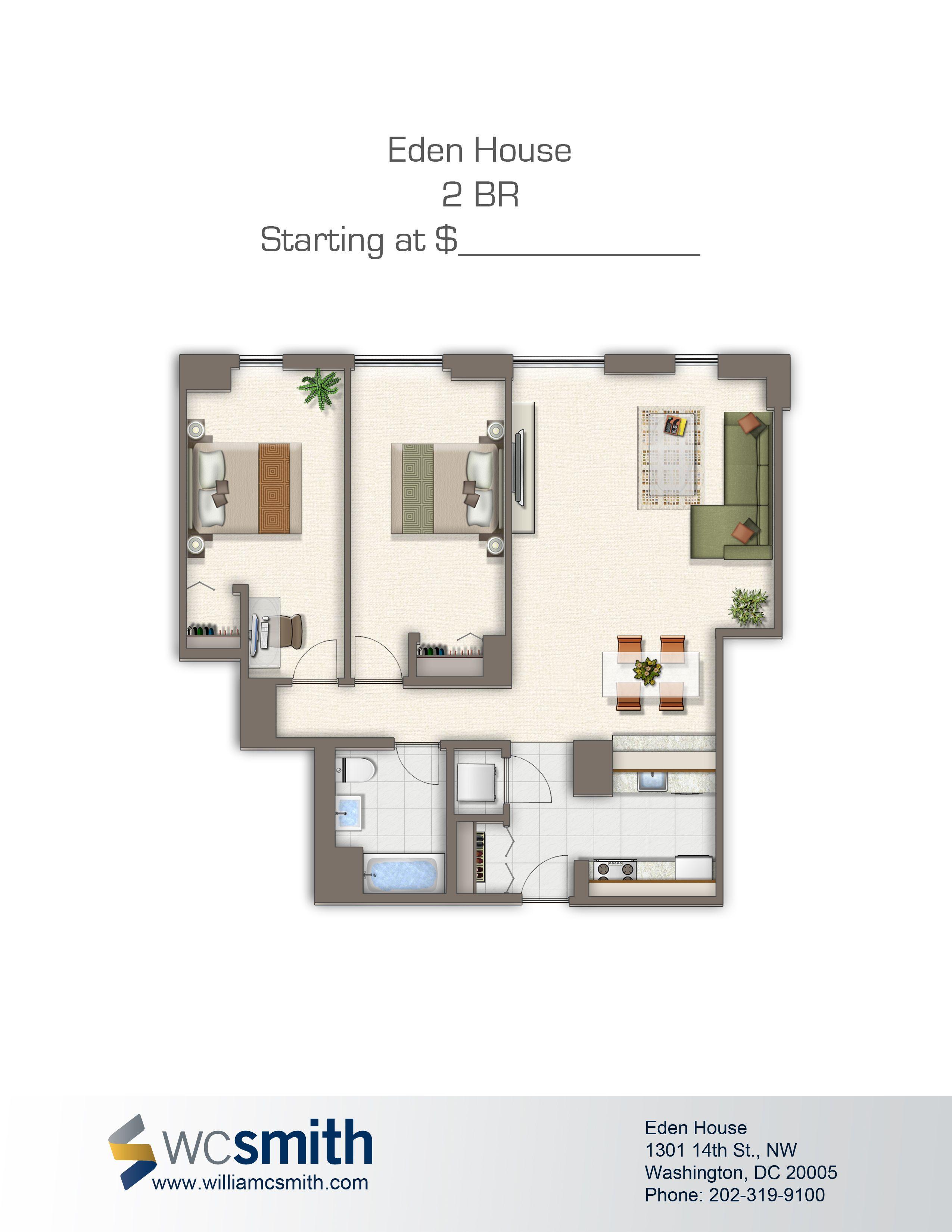 Two Bedroom Floor Plan | N St Village in Northwest ...