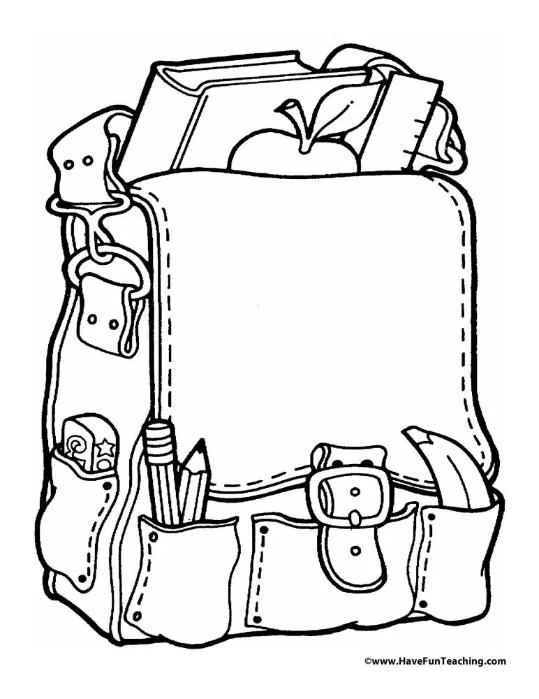Blank Backpack Kindergarten Coloring Pages, Preschool Coloring Pages, School  Coloring Pages