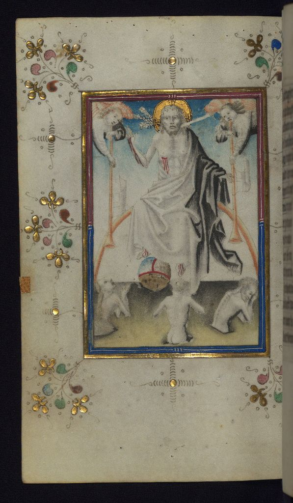 Illuminated Manuscript Book of Hours Last Judgment Walters Art Museum Ms. W.165 fol. 100v by Walters Art Museum Illuminated Manuscripts