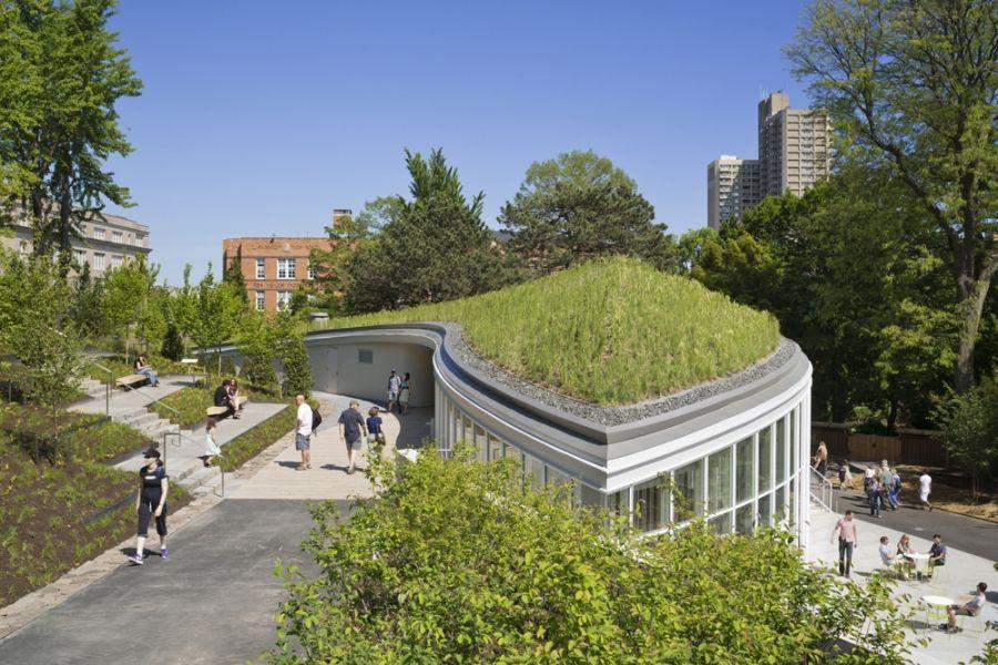 Inhabitable Topography And Green Roof Brooklyn Landschaftsdesign Botanischer Garten