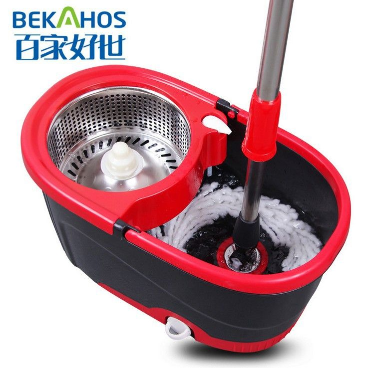 360 magic spin mop stainless steel spin basket 2 mop heads 2 drivers aliexpress