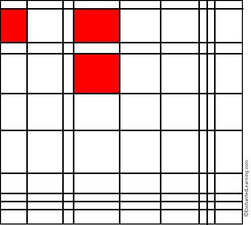 Piet Mondrian Interactive Coloring Page Mondrian Piet Mondrian