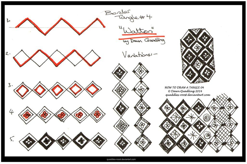 How to Draw Tangle 04 Watton quaddles-roost by Quaddles-Roost.deviantart.com on @deviantART