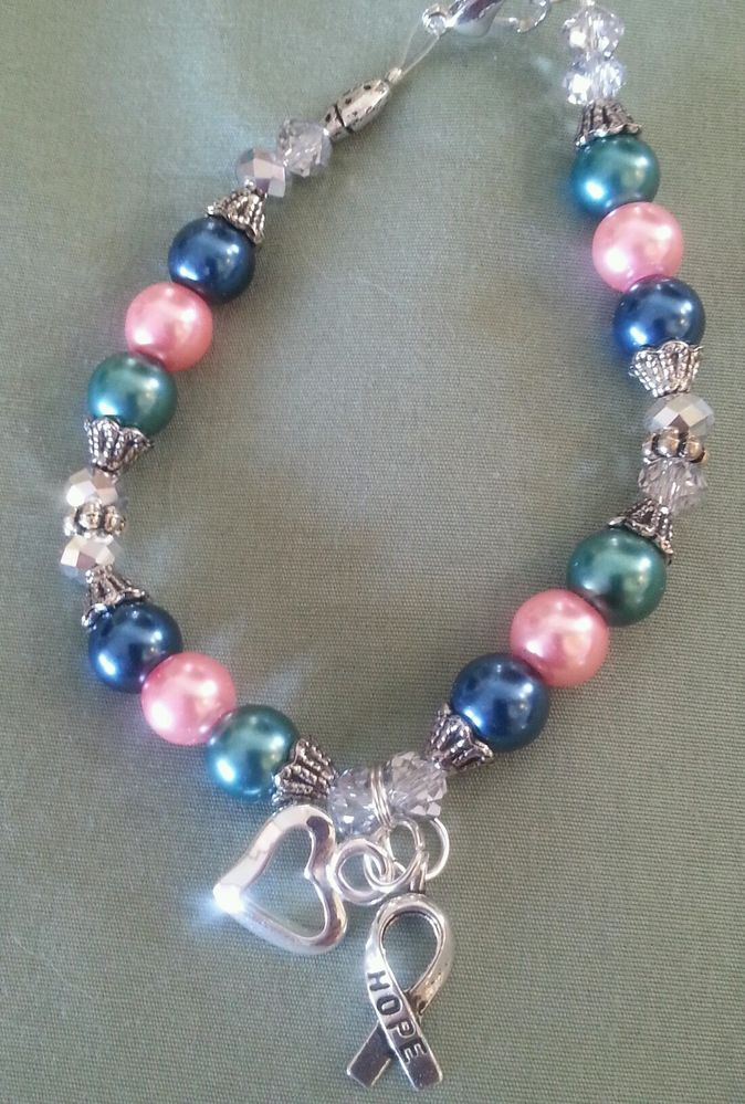 Thyroid Cancer Awareness Gl Pearl Bracelet