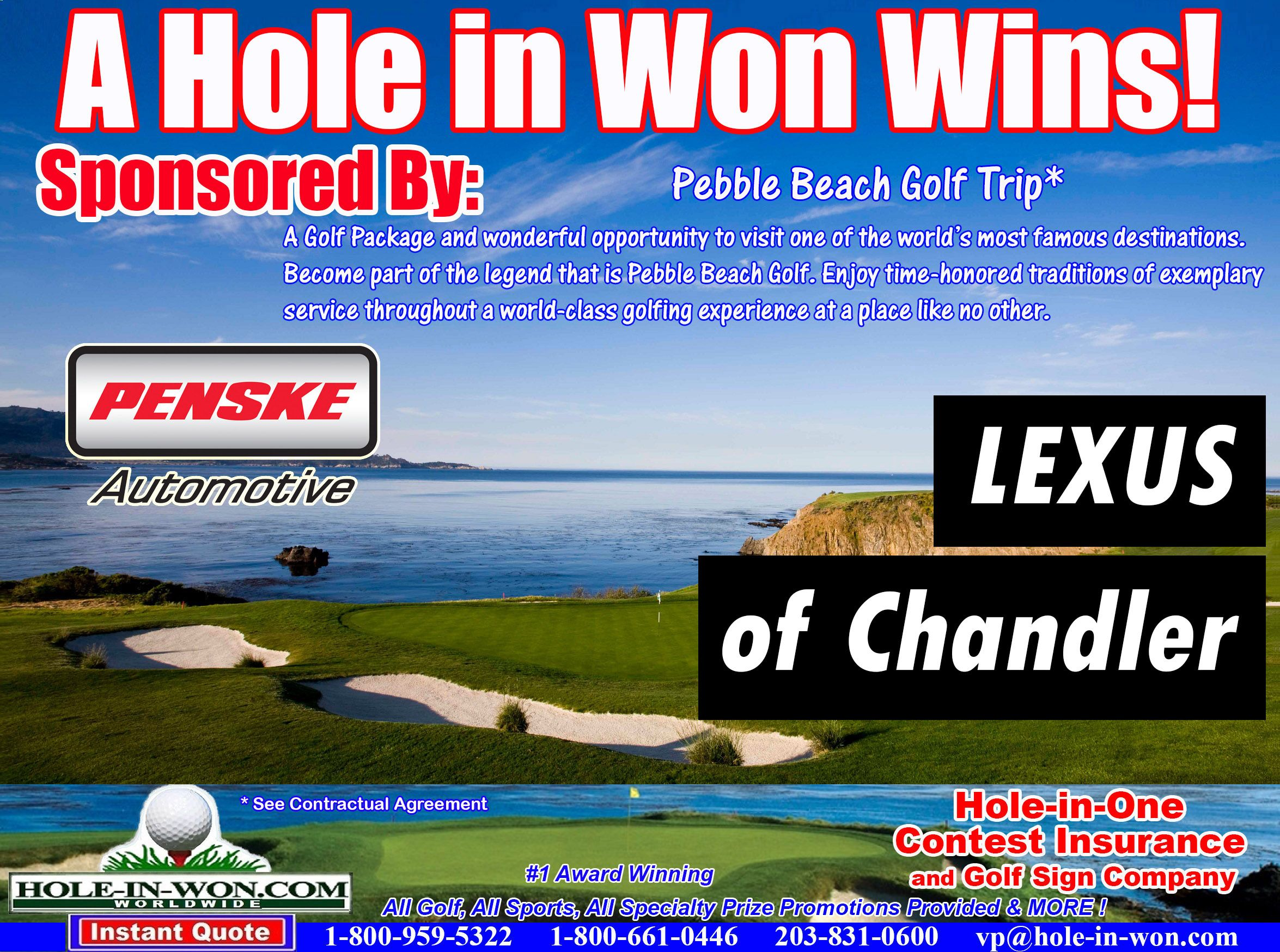 Penske Automotive Group Hole in One Insurance Penske Golf Contests on golf outing signs, funny golf signs, golf shot glasses, golf cart signs, golf flag, golf themed bar, vintage metal golf signs, golf sponsorship signs, golf tee signs, golf lessons sign, mini golf warning signs, wooden golf signs, golf course signs, custom golf signs, golf tournament signs, golf signs home decor, golf banners, golf driving range, golf score card, golf plaques and signs,