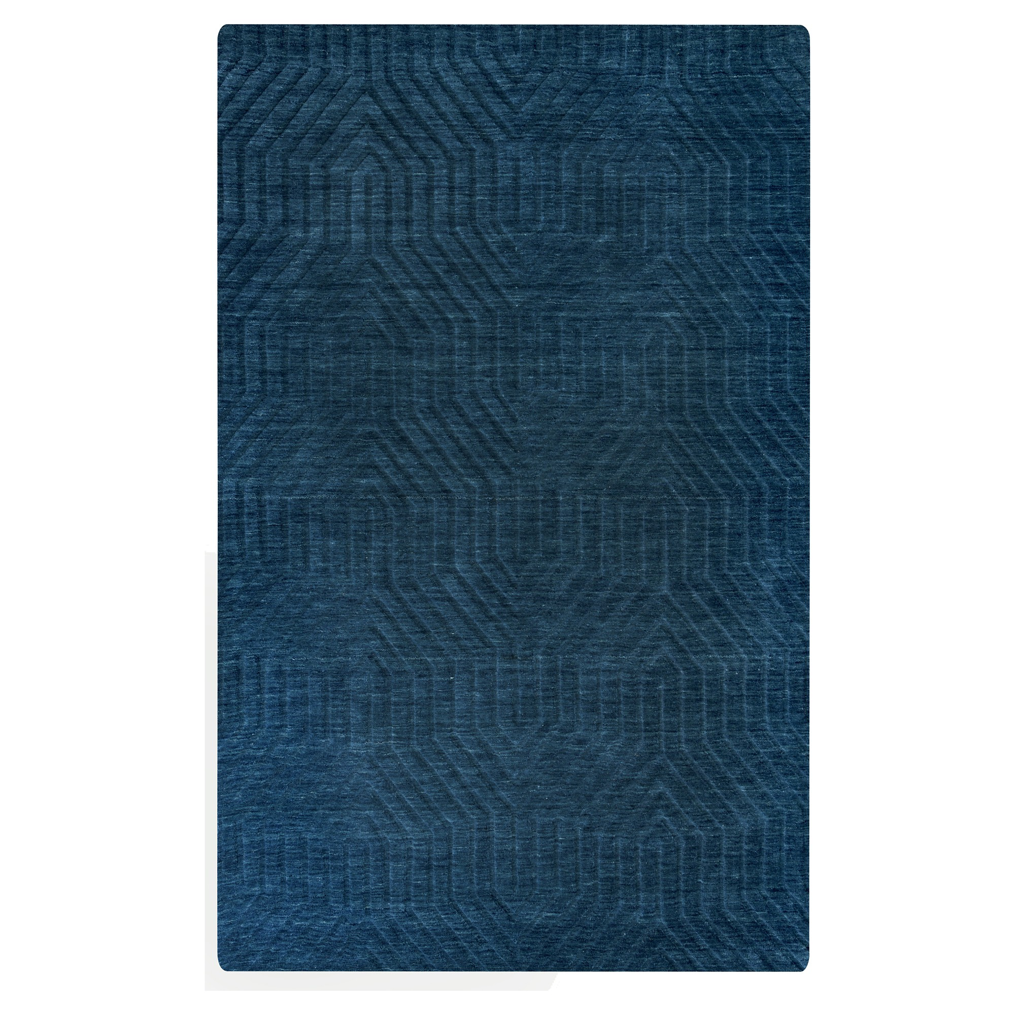 8 X10 Solid Area Rug Navy Rizzy Home Blue Wool Area Rugs Area Rugs Rugs