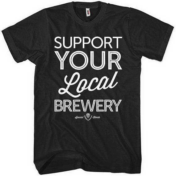 ringspun cotton custom made OHIO CRAFT BEER Typography t shirt One of a kind