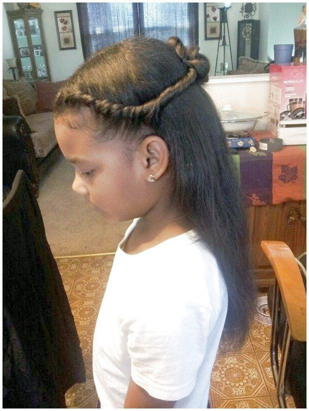 Princess style natural hair #CuteKidsHairstyles If you liked this pin, click now
