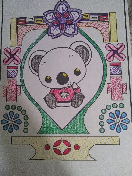 I did coloring.....