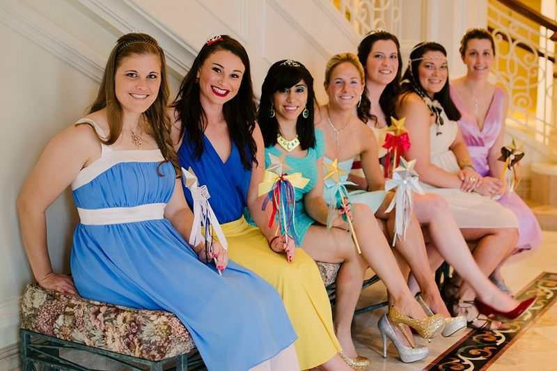 Stephanie and Adam's Walt Disney World Wedding complete with Disney-Bounding bridesmaids! // Emily Gilbert Photography