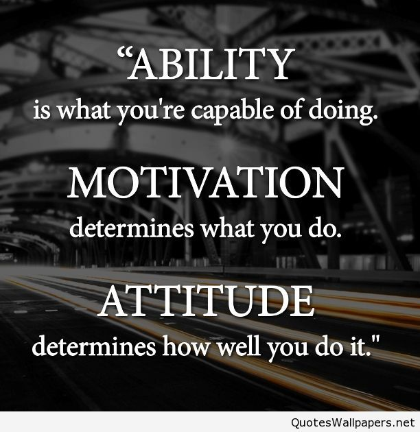 Ability, attitude ad motivation quotes hd wallpaper