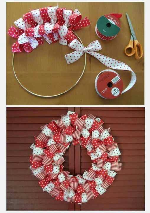 Valentine S Day Bow Wreath Wire Hanger Ribbon Tied Into Bows All