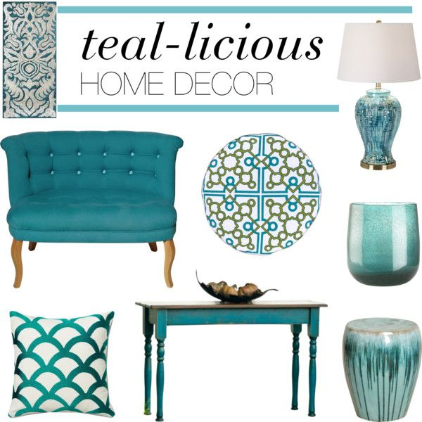 "Gray And Teal Living Room By Jurzychic On Polyvore: ""Teal-licious Home Decor"" By Polyvore-editorial On"