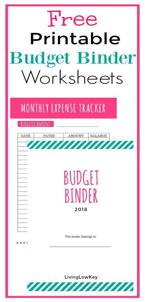 Free Budget Binder Printables Make Saving Money Easy Binder
