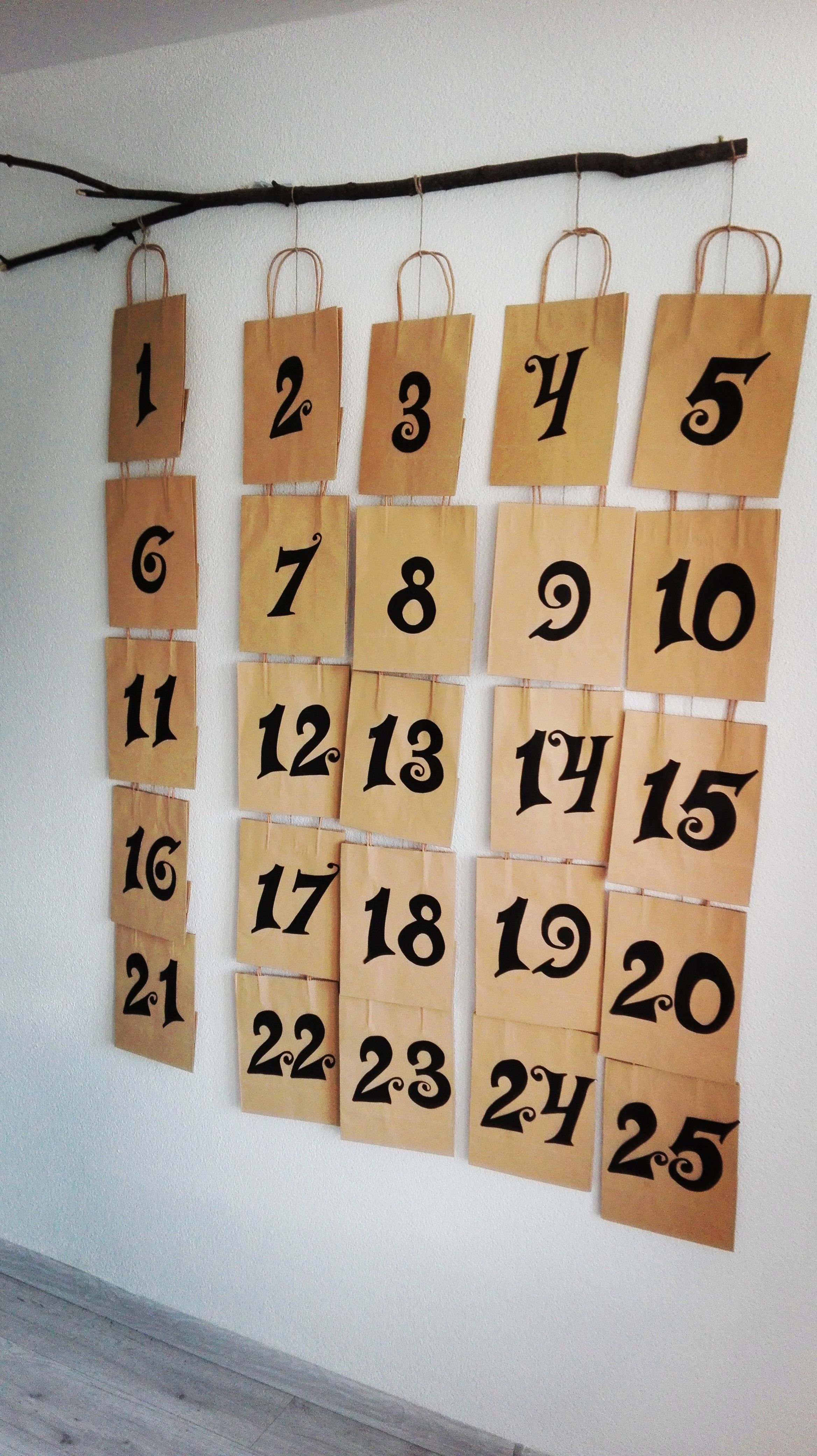 Amazing Idea Create Your Own Advent Calendar Made Of Kraft Paper Gift Bags And Surprise Whole Family
