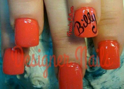Name on nails | Cool nail art designs. | Pinterest