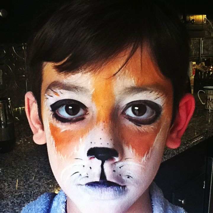 red panda face painting for boy www.facebook.com ...