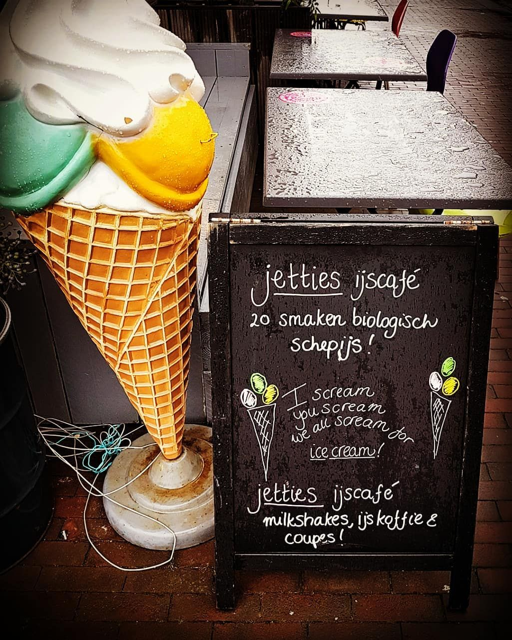 Calling all fans of ice cream let's scream