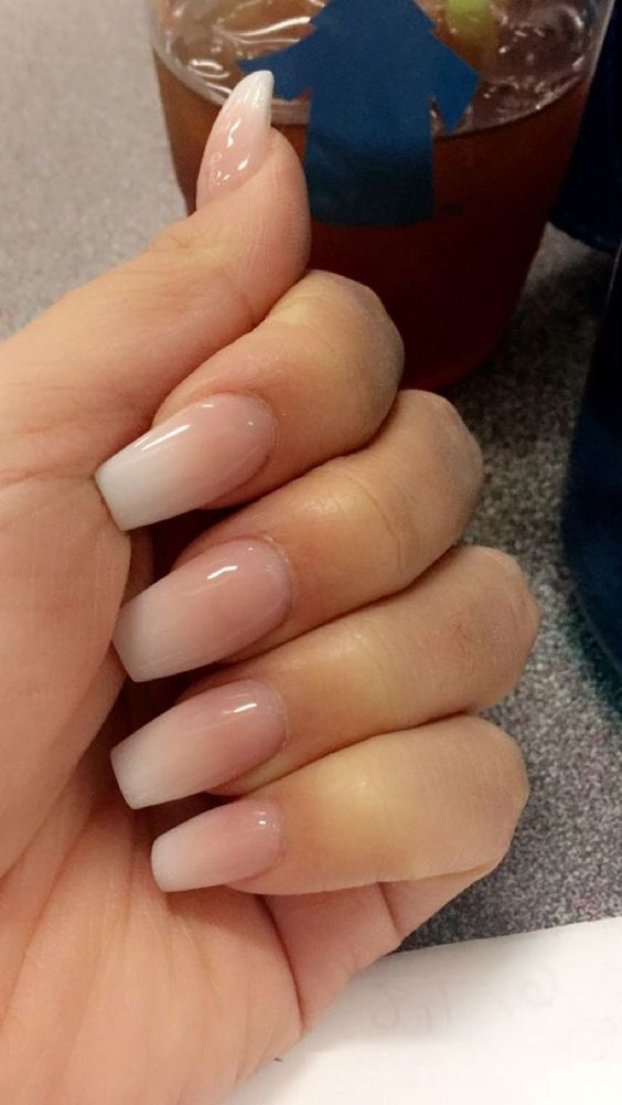 32 Gorgeous Pind Neutral Nail Designs For Lovely Girls Page 14 Of 32 Getbestidea Ombre Acrylic Nails Umbre Nails Natural Acrylic Nails