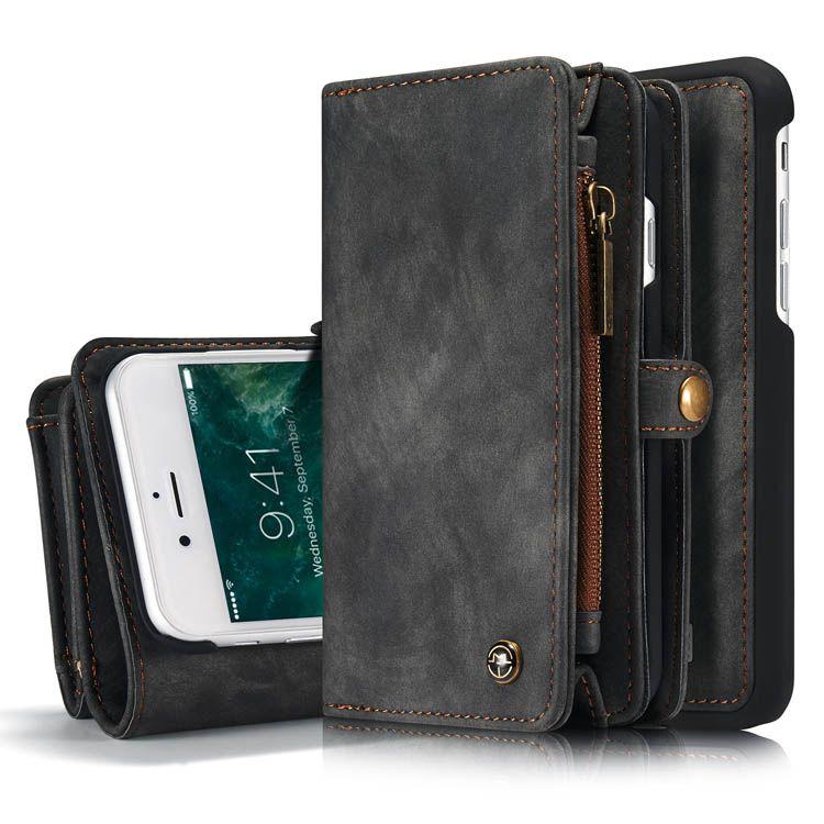 Caseme iphone 7 zipper wallet detachable folio