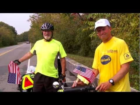 """At age 60, Mark made a life-changing decision. He decided to """"get off the couch"""" and do something incredible. More determined than ever before, Mark decided that he is going to ride his bike across the country."""