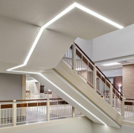 Lovely Treppenhaus Beleuchtung, Lichtsystem, Lineare Beleuchtung, Indirekte  Beléuchtung, Led Deckenleuchten, Treppe, Innere, Stair Lighting, Hallway  Lighting