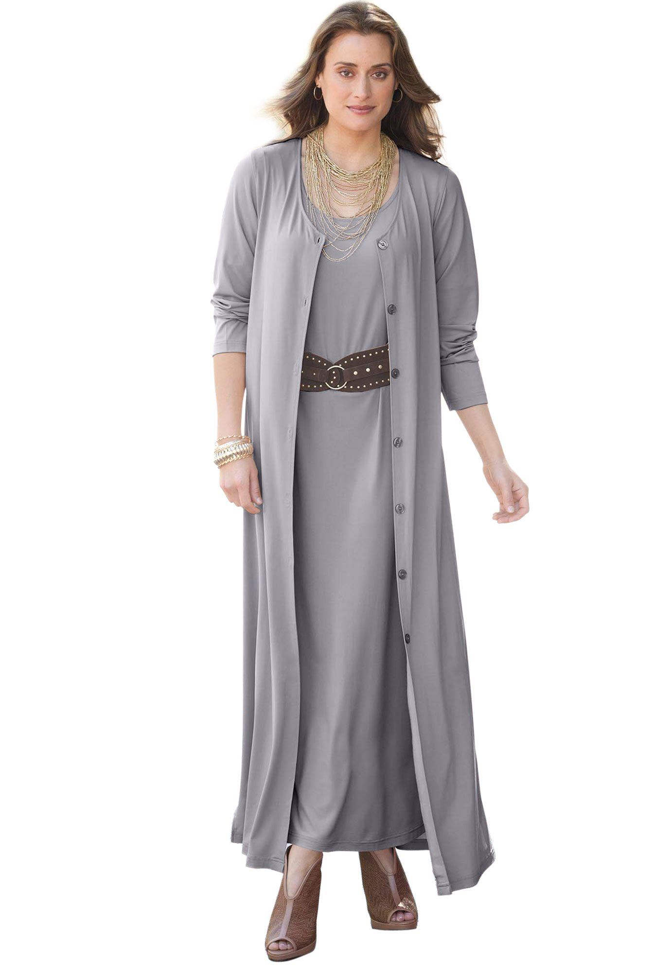 Plus Size Duster Set | Plus Size Suits & Sets | Jessica London | GET ...