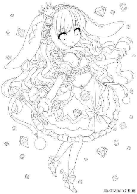 無料の印刷用ぬりえページ ほとんどのダウンロード 可愛い 塗り絵 Manga Coloring Book Anime Drawings Sketches Anime Lineart