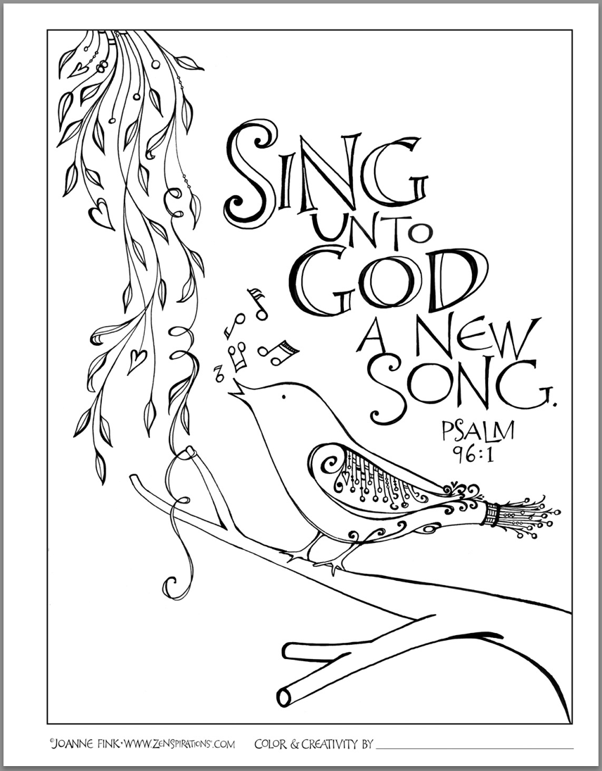 Rhythm Rhyme Scripture Song Zenspirations Bible Coloring Pages Bible Verse Coloring Bible Art Journaling